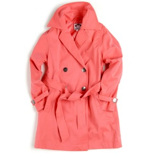Trench Coat in Coral, $64