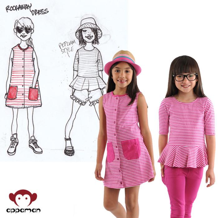 Rockaway Dress and Peplum Tee