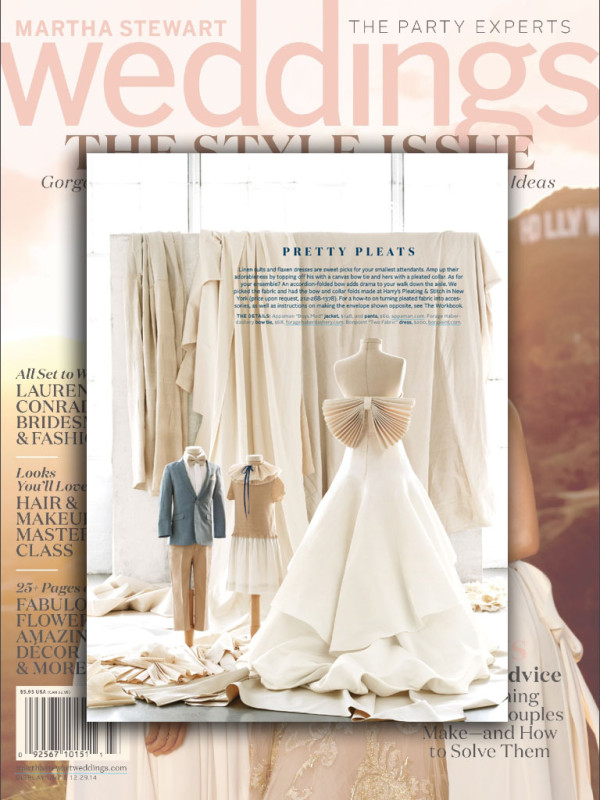 Marthe Stewart Weddings Fall 2014Featuring the Mod Suit (Sky Blue jacket), Suit Pants in Desert