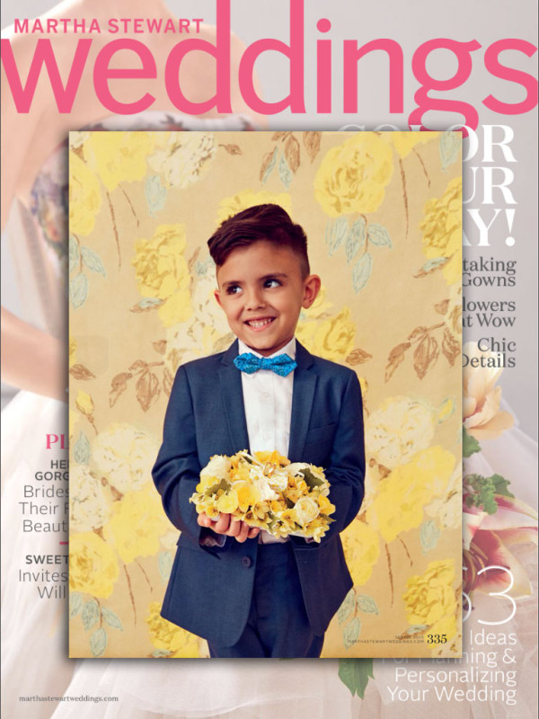 Martha Stewart Weddings Spring/ Summer 2015Featuring: Mod Suit in Shark; Standard Suit in White