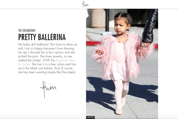 North West in Appaman Faux Fur Coat