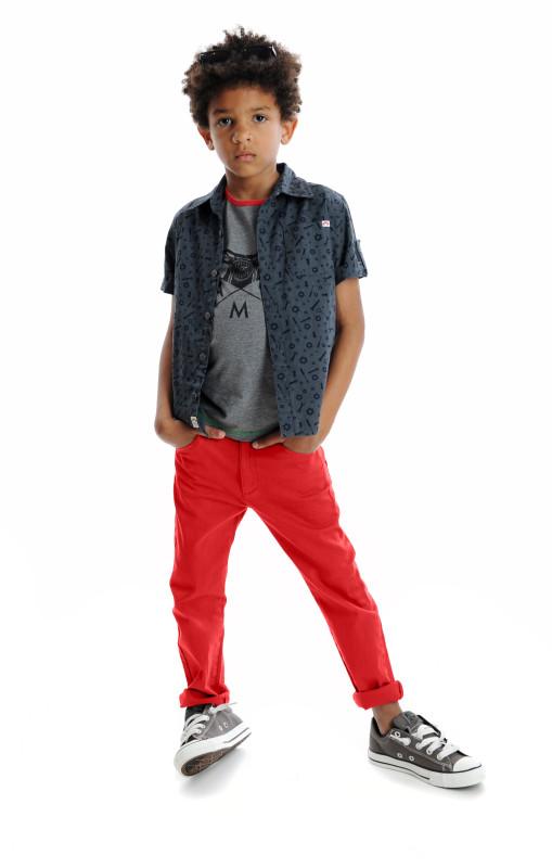 Pattern Shirt, Skater Raglan Tee, Skinny Twill Pant