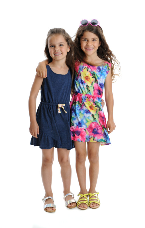 Tinos Dresses in Floral and Speckled Navy
